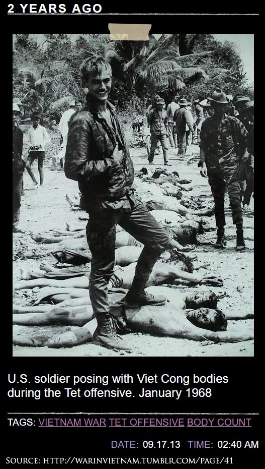 Tấm ảnh người lính Mỹ ở nguồn và chú thích. Nguồn: