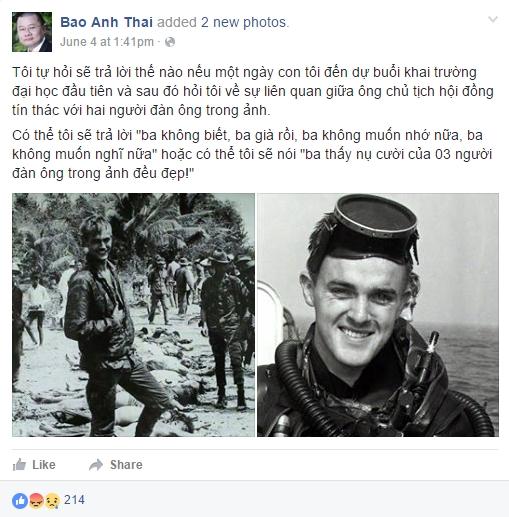 Facebook Thai Bao Anh. Nguồn: Facebook