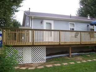 home improvement pole deck showing side