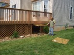 home improvement rear entrance deck storage