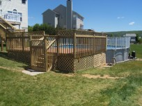 home improvement swimming pool deck stairs