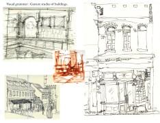 VG Constructive + gesture studies of buildingsWB