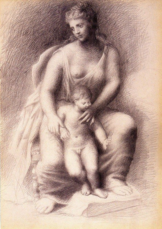 Pablo Picasso mother and child