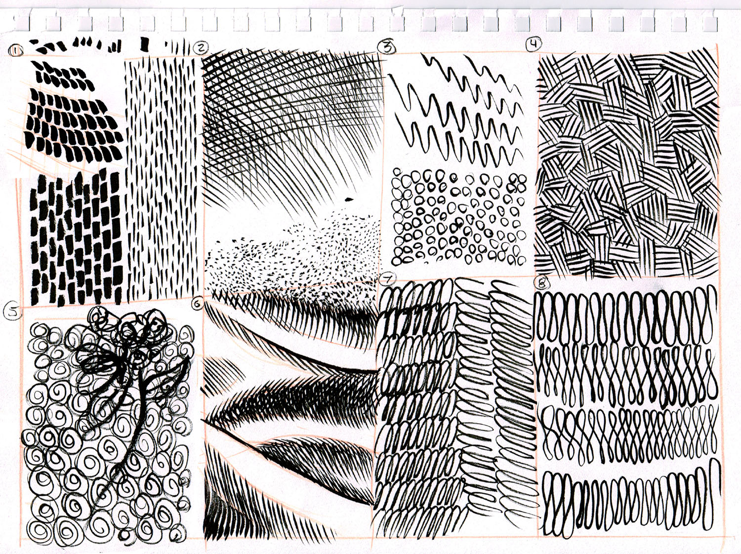 Form And Texture : Dynamic drawing archive pattern texture and technique