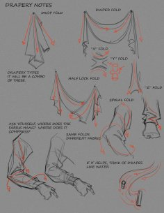 Make a point of studying things like the drapery of any cloths or cloths, leathers or similar materials, use this guide by Funky Monkey1945 on deviantart to help think about the physics of drapery.