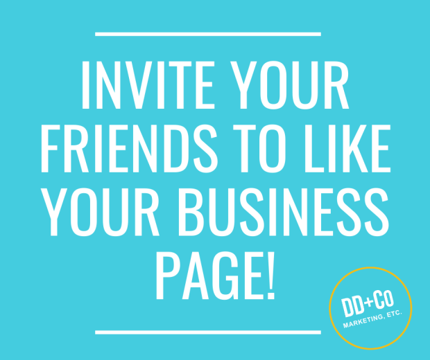 invite your friends to like you facebook business page