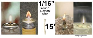 Cotton Replacement Wick Candle Oil Wick Lantern Wick Oil Candle Wicks Lantern