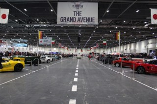 The Grand Avenue at London's Classic Car Show