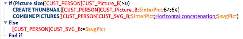 SVG ist in 4D auch ein Bild. Bilder lassen sich einfach addieren.
