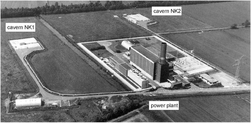 Huntorf, Germany, CAES plant. Photo from DOE.