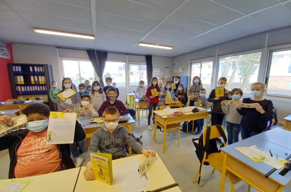 Tour de France J-100 à l'école Sainte Marie de Louverné
