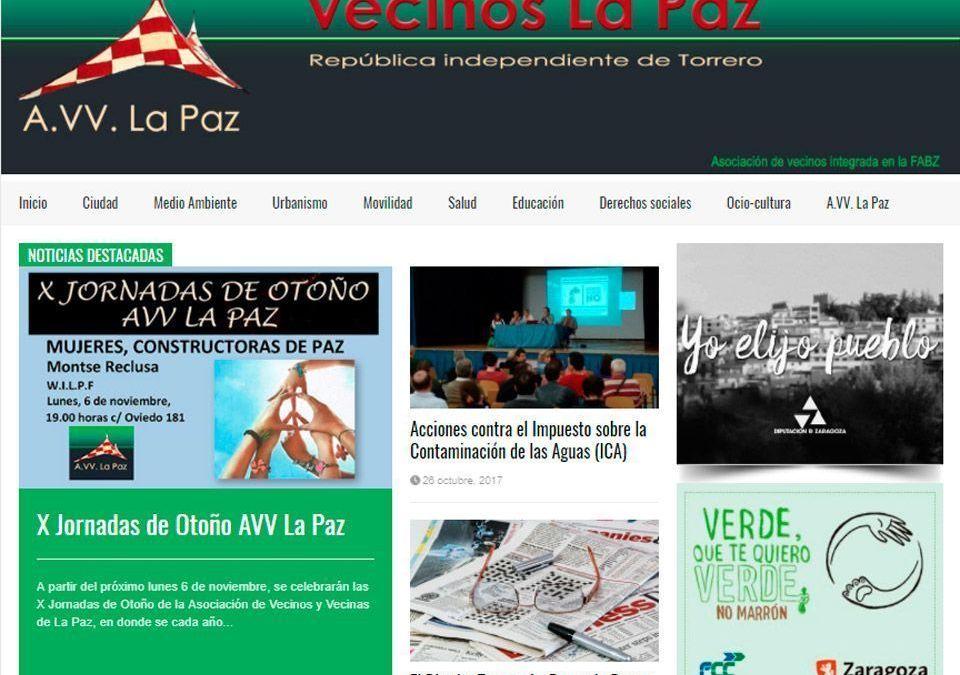 El trabajo en la web de la AVV La Paz comienza a dar sus frutos