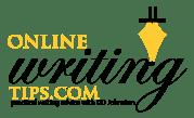 online writing tips logo white cropped