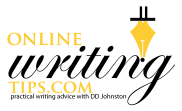 online writing tips logo white cropped