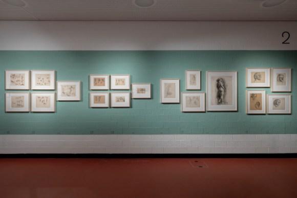 """""""Scultura su legno del museo di Cluny"""", 1909,mina e matita su carta, datato ''30 juin 1909'', coll. privata, Svizzera, fotografia © Éric Gachet"""