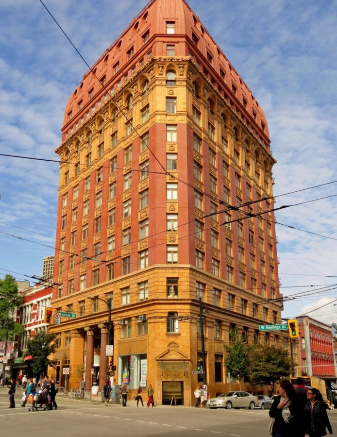 Dominion building in Vancouver, BC, Dhanu Dhaliwal's original office