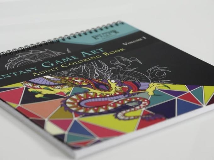 Easy Roller Dice Company Fantasy Adult Coloring Book