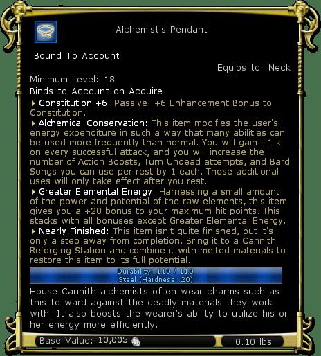 Alchemist's Pendant
