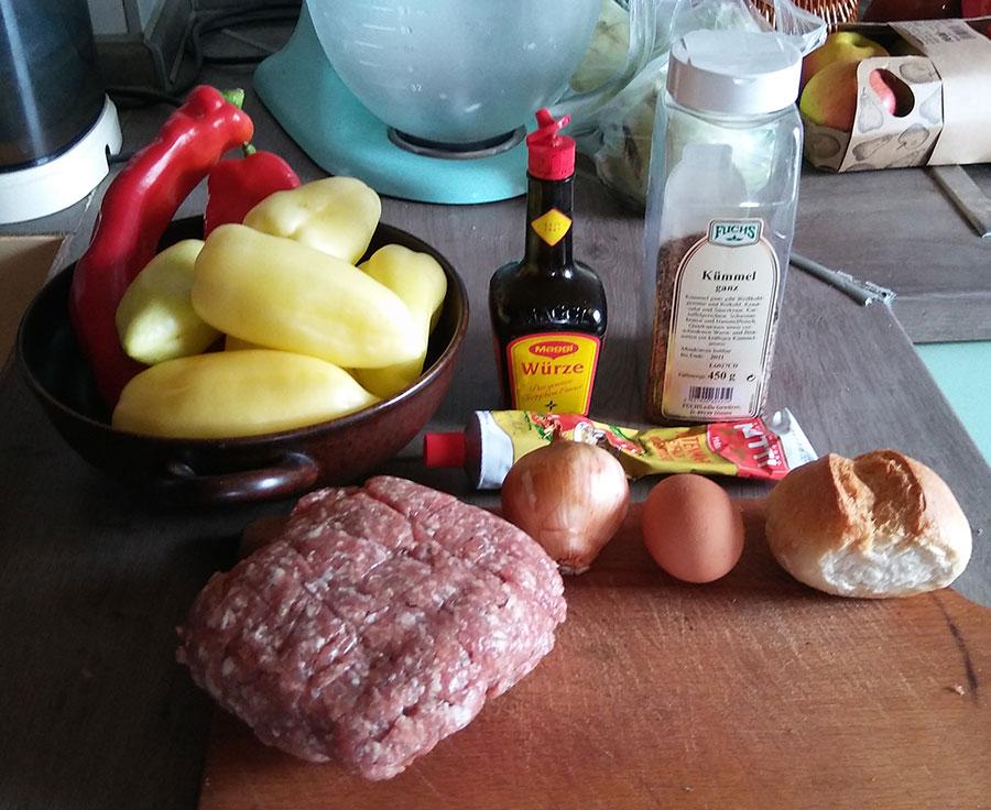 zutaten für gefüllte Paprikaschoten DDR Rezepte