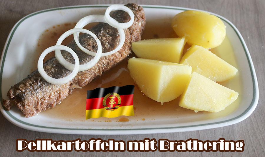 Brathering mit Pellkartoffeln Salzkartoffeln Omas DDR Rezept Mittagessen Gerichte