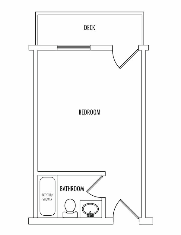 Inn room floorplan