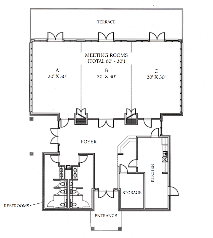 Floorplan of the Conference Center
