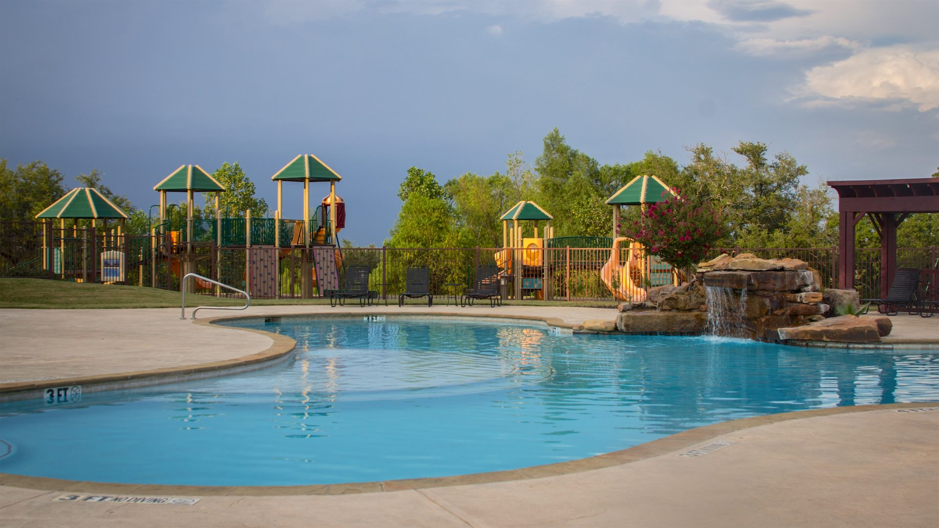 Photo of the Burgess Pool & playground