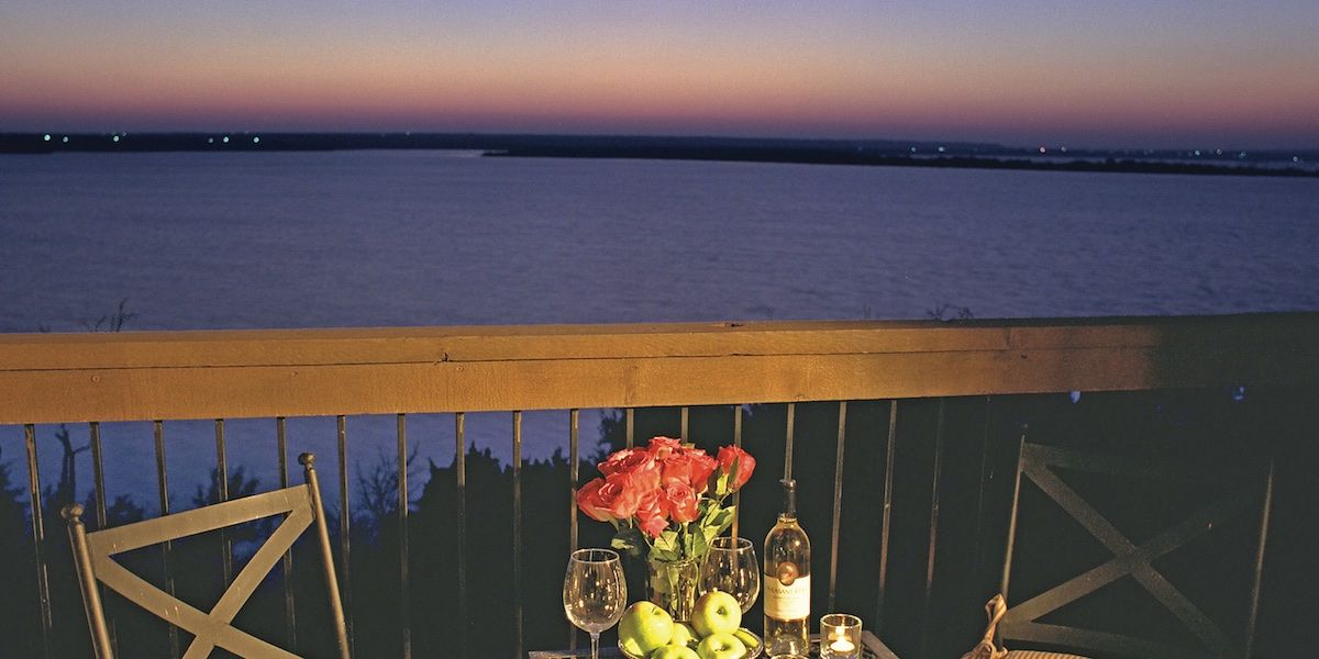 Photo of Lake Whitney as seen from The inn balcony