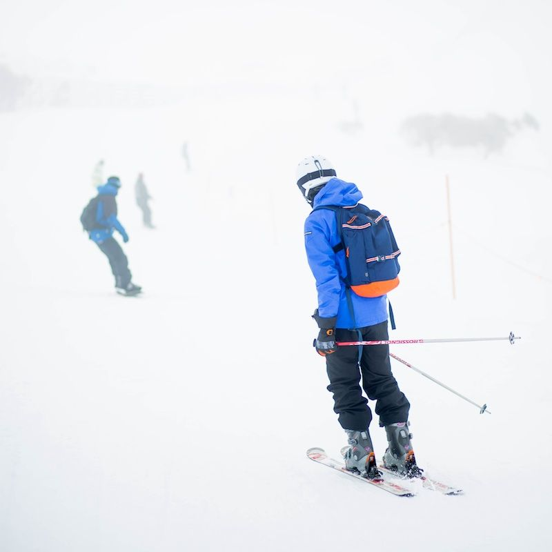 photo of man skiing