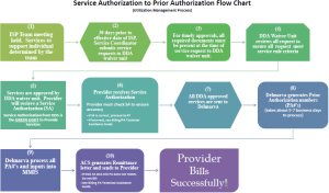 Service to Prior Authorization Flow Chart | dds