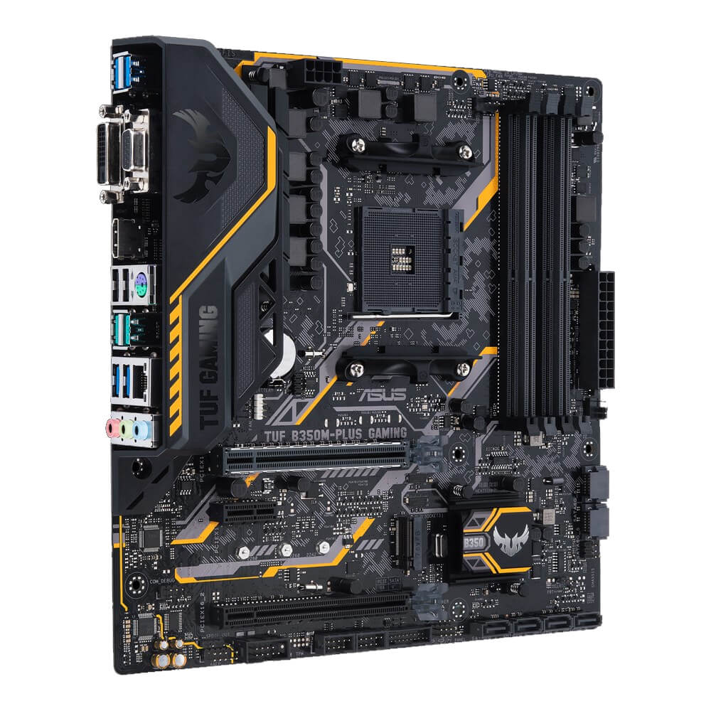 Tarjeta Madre TUF B350M-PLUS GAMING ASUS Socket AM4 AMD Micro ATX *5 años de garantia* | DD Tech