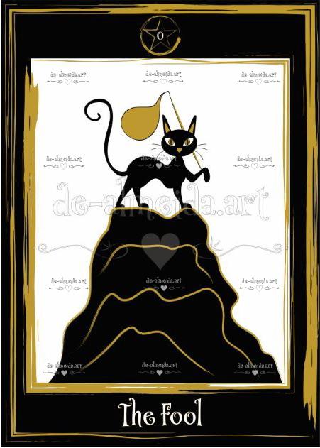 Black cat tarot - The Fool