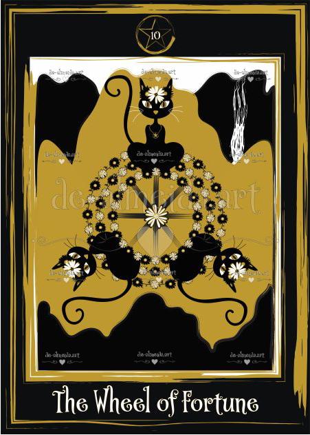 Black cat tarot - The Wheel of Fortune