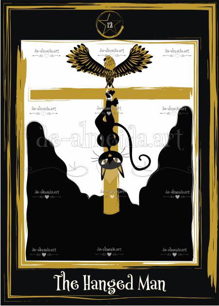 Black cat tarot - The Hanged Man