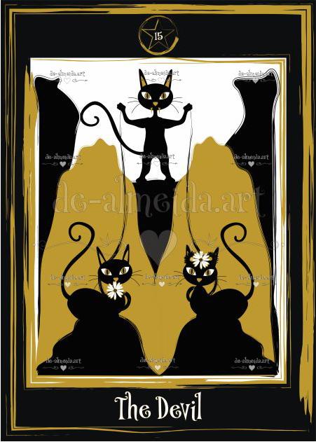 Black cat tarot - The Devil