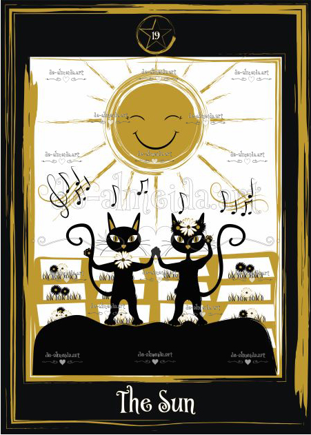 Black cat tarot - The Sun