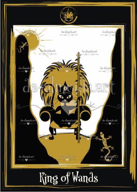Black cat tarot - King of Wands