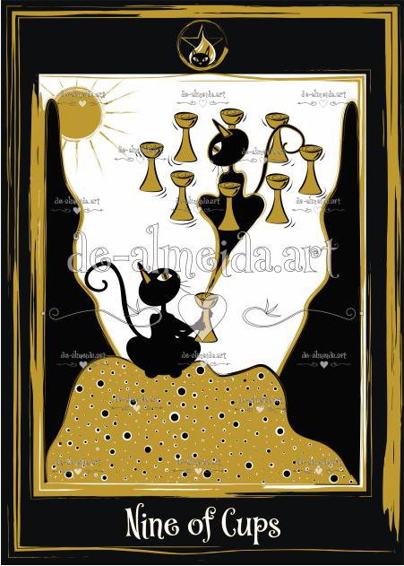 Black cat tarot - Nine of Cups