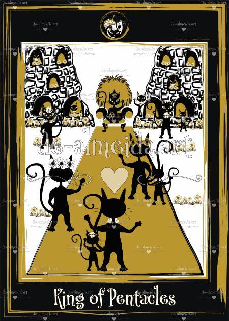 Black cat tarot - King of Pentacles card