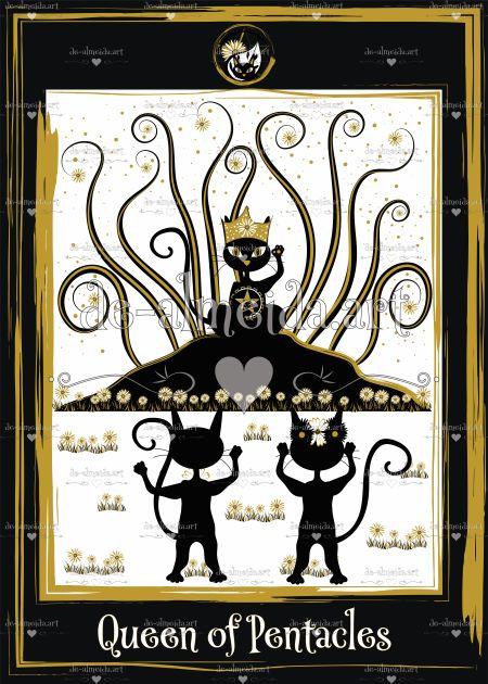 Black cat tarot - Queen of Pentacles