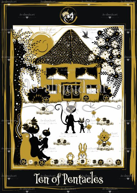 Black cat tarot - Ten of Pentacles