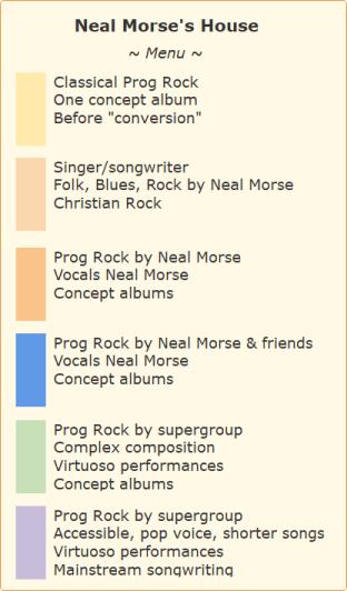Neam Morse's Music menu