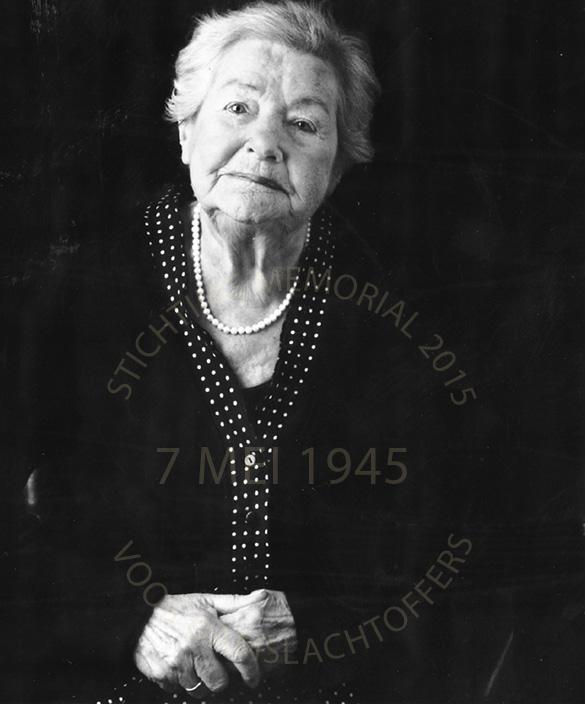 ten tijde van dit interview was Dien 90 jaar oud. Foto ter beschikking gesteld door haar zoon Gerard.