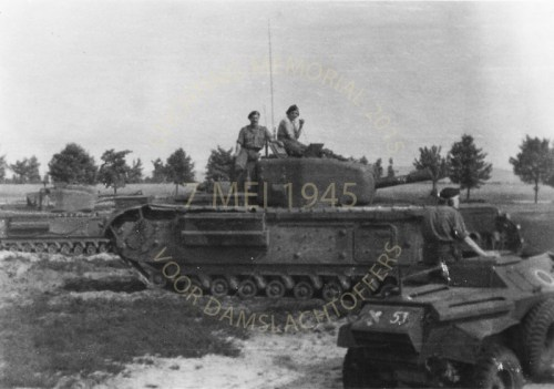 2-RHT on his Churchill tank in Normandy 1944