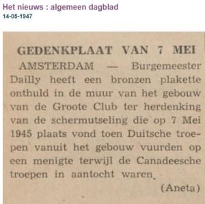 AD 14 Mei 1947