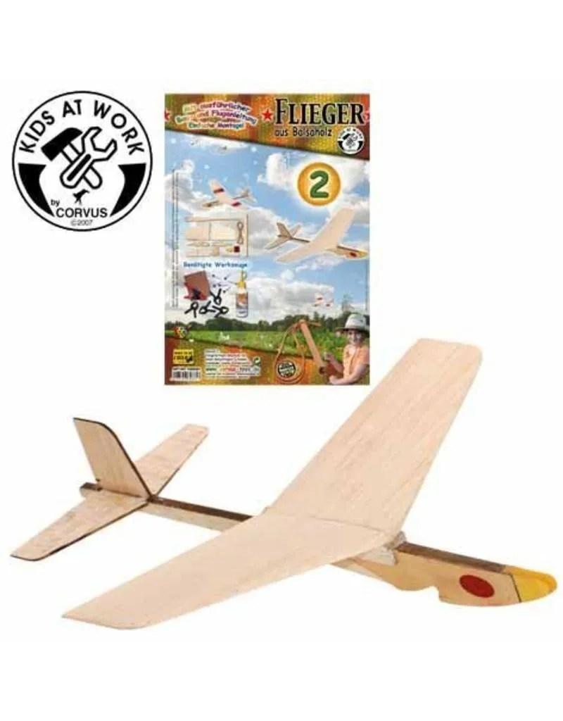 balsahout vliegtuig katapult