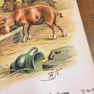 centsprent antiek poster heritage