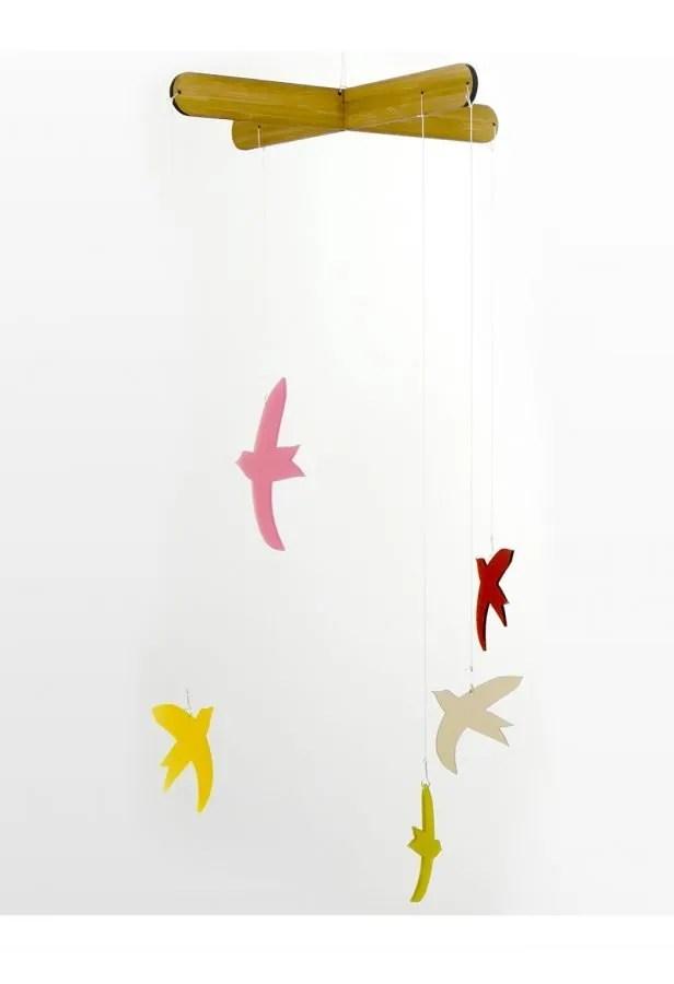 la miseto muurdecoratie raamdecoratie vogels mobile