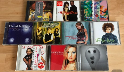 今日のiTunesへのCDの取り込み(cappella、Real McCoy、Pandora、Underworld、他)
