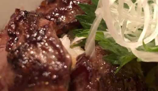 飯田橋の鉄板焼屋さん蛮々でランチ。人気No.1のステーキ丼をいただきました♪ステーキとタレの相性がバツグン!